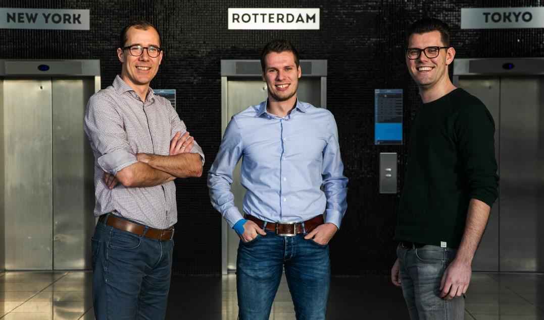 Wouter Kolbeek (Woonstad), Wilco Kelder (Root) en Casper Hofstee (Woonstad) / Foto: Marieke Wijntjes / 2020