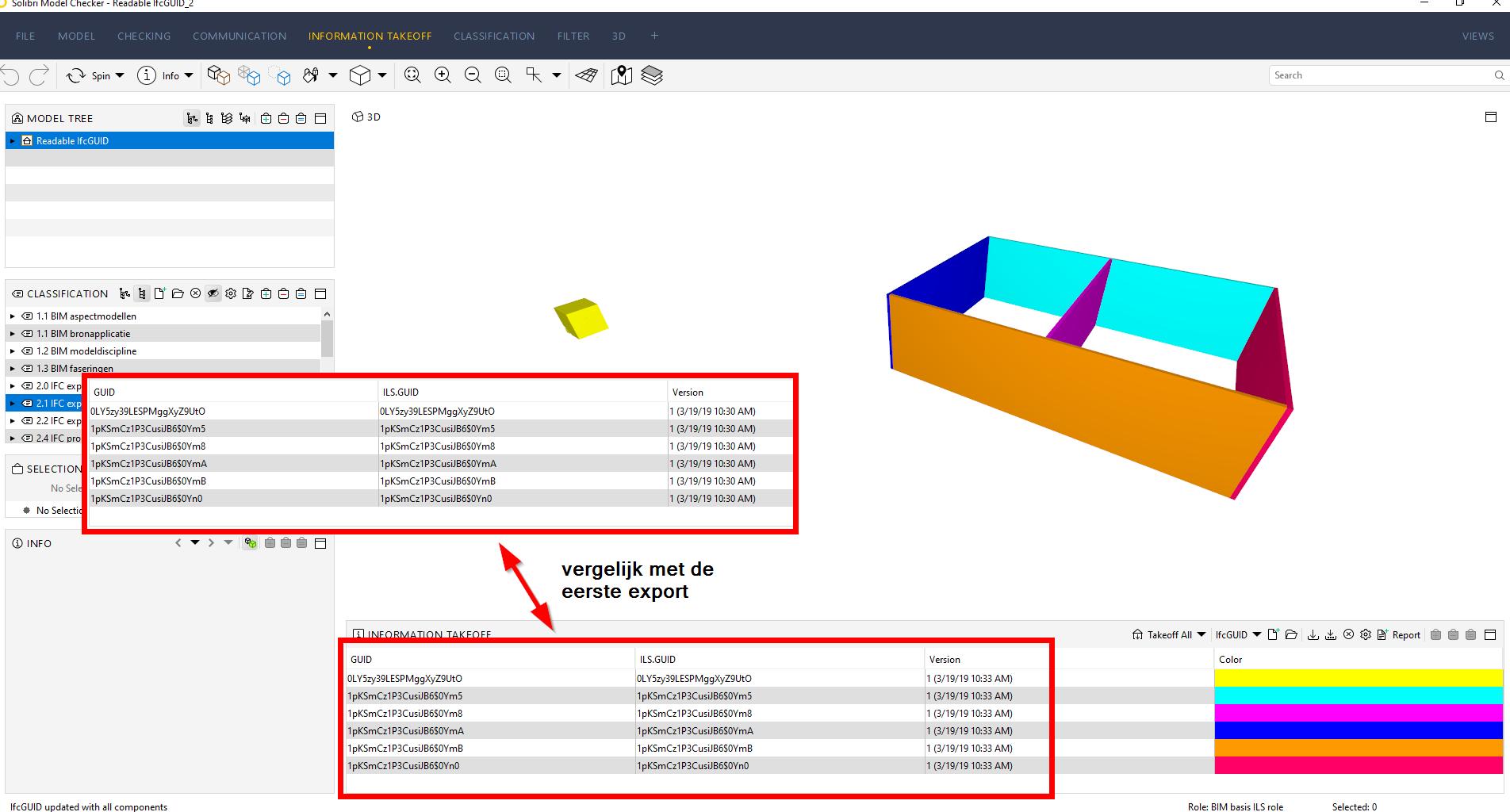Solibri Model Checker / nieuwe export na lege waarden