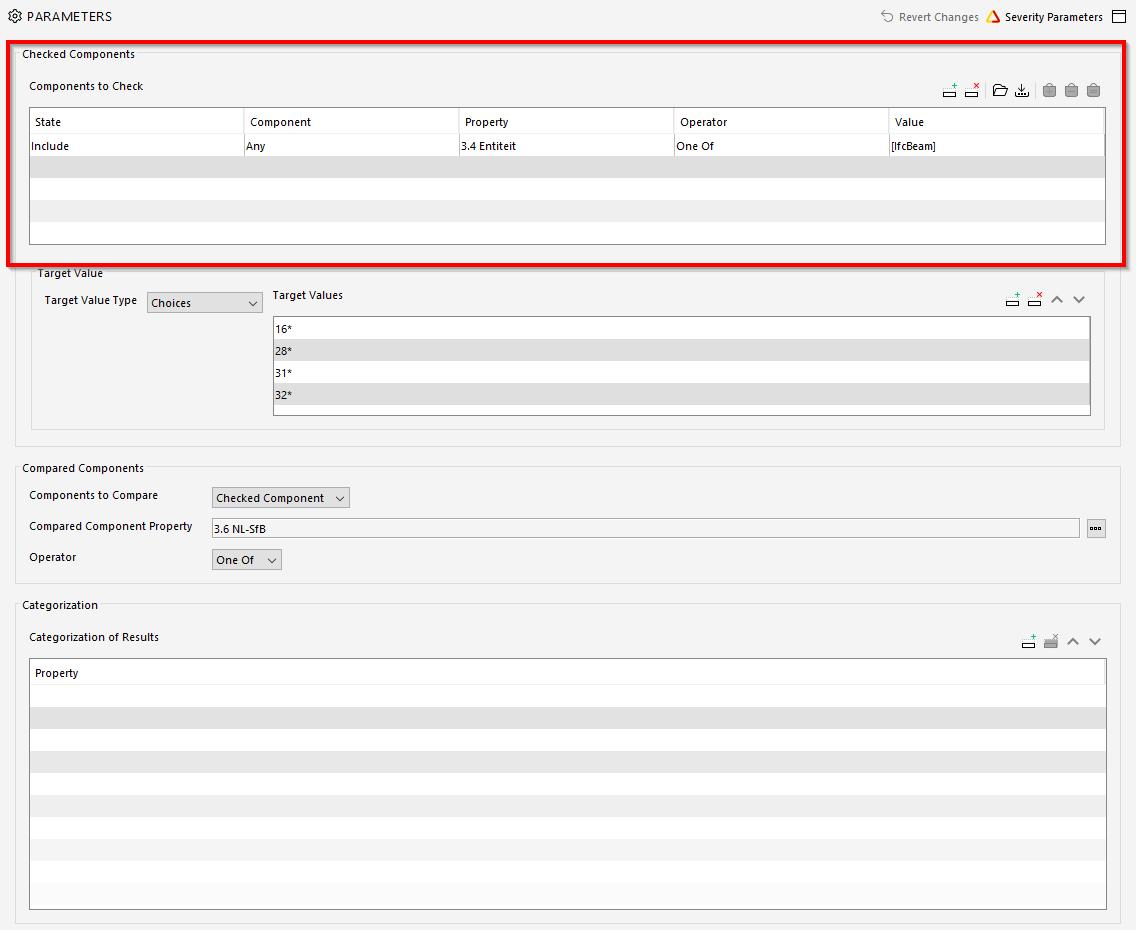 classificatie_plafond rule parameters-