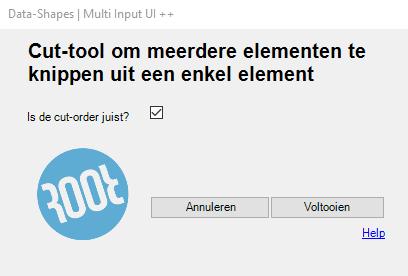 cut-tool venster 2