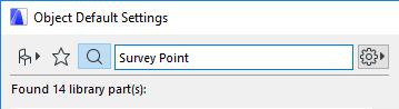 Zoeken op Survey Point