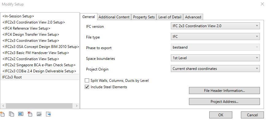 Update exporteren naar ifc 4