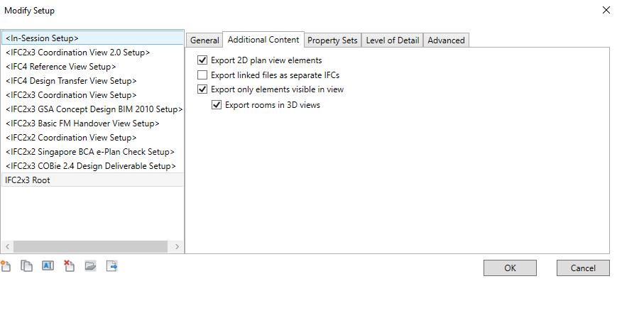 Update exporteren naar ifc 5