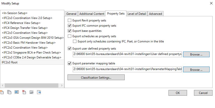Update exporteren naar ifc 6